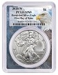 2020 W Burnished Silver Eagle PCGS SP69 - First Day Issue Label - Eagle Frame