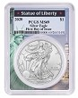 2020 1oz Silver Eagle PCGS MS69 - First Day Issue - Statue Of Liberty