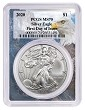 2020 1oz Silver Eagle PCGS MS70 - First Day Issue - Eagle Frame