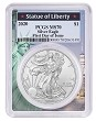 2020 1oz Silver Eagle PCGS MS70 - First Day Issue - Statue Of Liberty