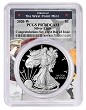 2020 W Congratulations Set Silver Eagle Proof PCGS PR70 DCAM - First Day Issue - West Point Frame