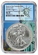 2021 (s) Emergency Production Silver Eagle NGC MS70 - Statue Of Liberty Core