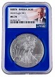 2020 1oz Silver Eagle NGC MS70 - Blue Core - Biden / Harris 2020 Label