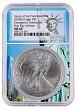2020 (s) Emergency Production Silver Eagle NGC MS69 - First Day Issue - Statue Of Liberty Core