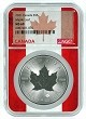 2021 Canada 1oz Silver Maple Leaf NGC MS69 - Flag Core