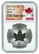 2021 Canada 1oz Silver Maple Leaf NGC MS69 - Flag Label