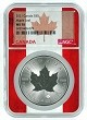 2021 Canada 1oz Silver Maple Leaf NGC MS70 - Flag Core