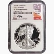 2017 W 1oz Silver Eagle Proof NGC PF70 Ultra Cameo - Early Releases - John Mercanti Signed
