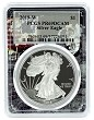 2019 W 1oz Silver Eagle Proof PCGS PR69 DCAM - Space Frame