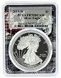 2019 W 1oz Silver Eagle Proof PCGS PR70 DCAM - Space Frame