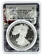 2019 S 1oz Silver Eagle Proof PCGS PR70 DCAM - First Day Issue - Space Frame